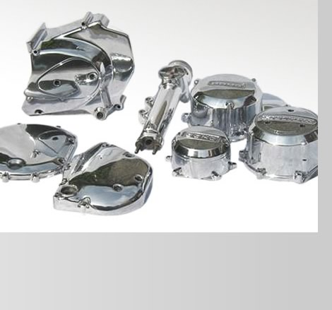 polished aluminium alloy